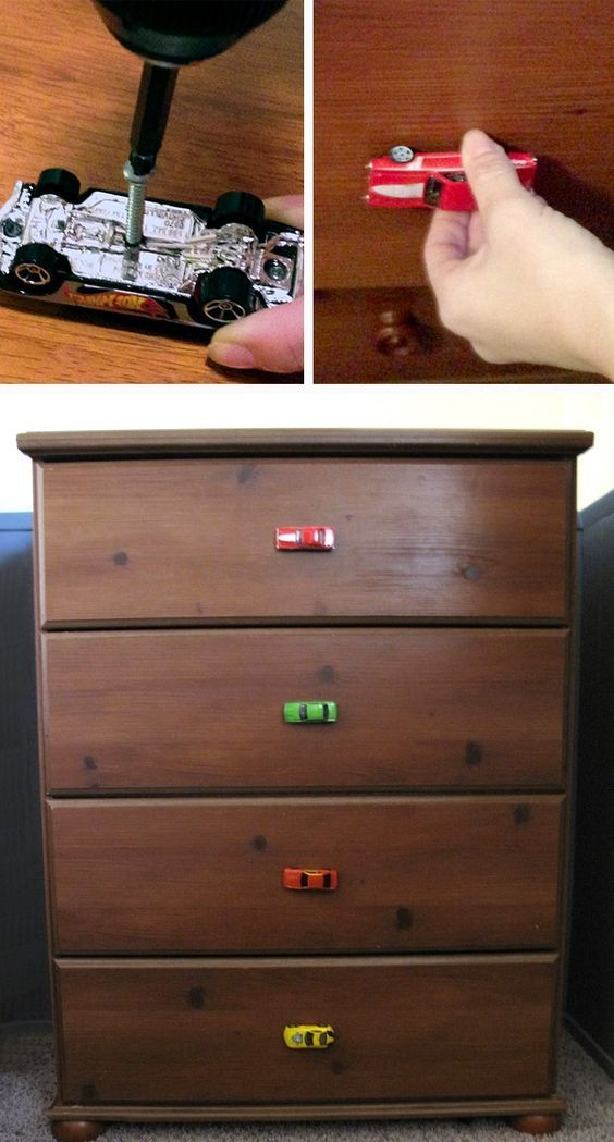 Kids cars used like drawer pull