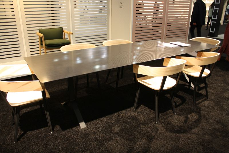 ... Large Rectangular Dining Table With A Metalic Vibe
