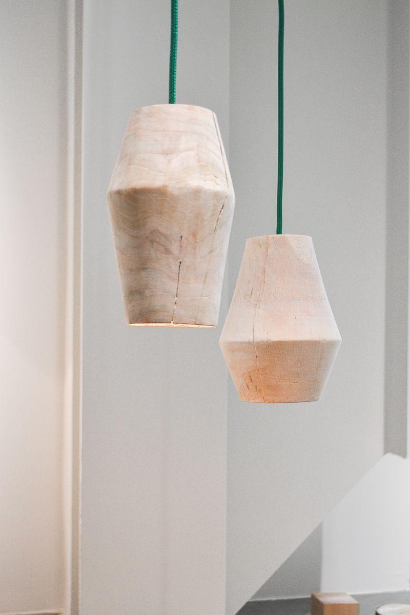 Lena Mari Skjoldal Kolas wood lamps
