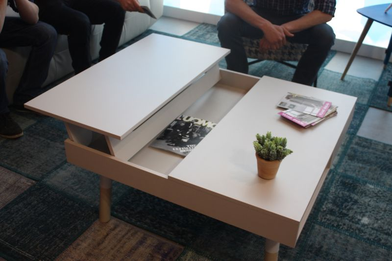 Pedro Ortiz Also Has This Square Coffee Table With Sides That Rise Up To The Side