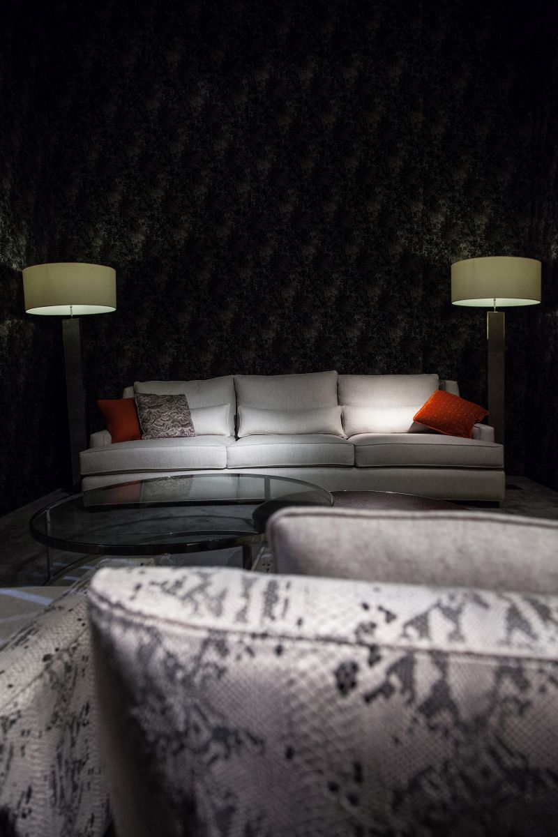 Light sofa pattern on a dark background