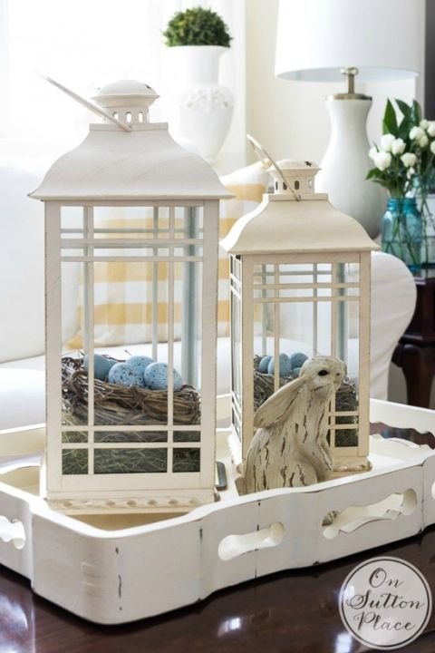 Light your living room with lanterns