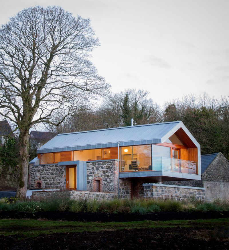 Modern homes that used to be rustic old barns for Houses with barns