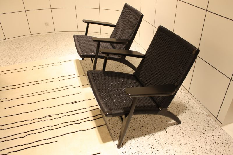 Low black furniture design