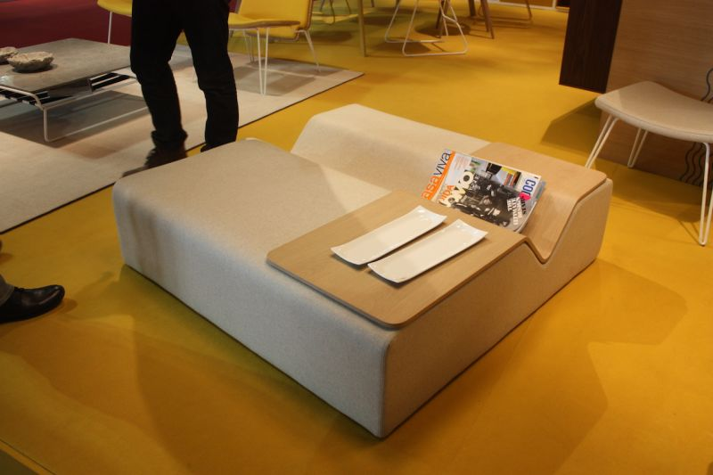Loyra Has A New Ottoman Coffee Table Hybrid. The Interesting V Design  Includes A Moveable