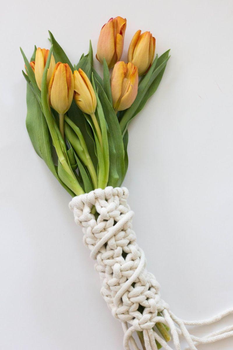 Macrame buchet flowers