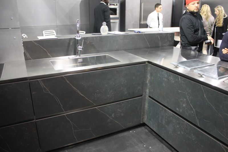 Marble blacksplash and countertop