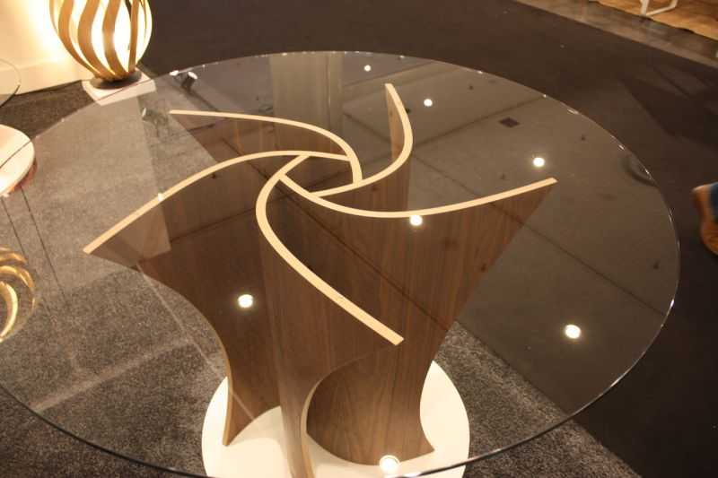 We were already fans of McMaster Design for their lighting, but are now also crushing on this table. The spiral design if this table base is stunning, and even more so when you find out that each piece is made of 29 laters of wood.