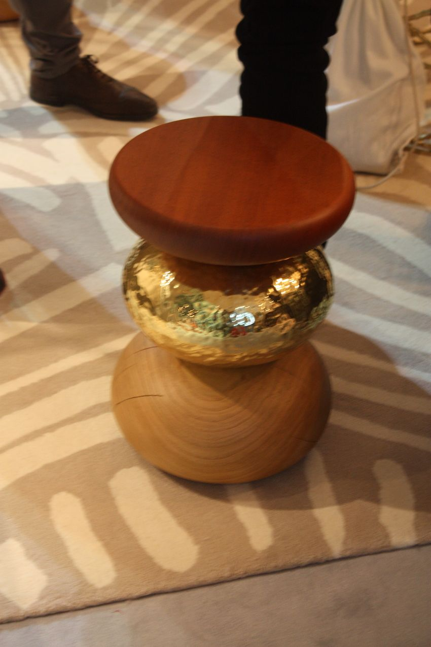 Petite Friture's Basil Sphere side table is by Arthur Leitner. Made f cork, it is available in square and triangular variations.
