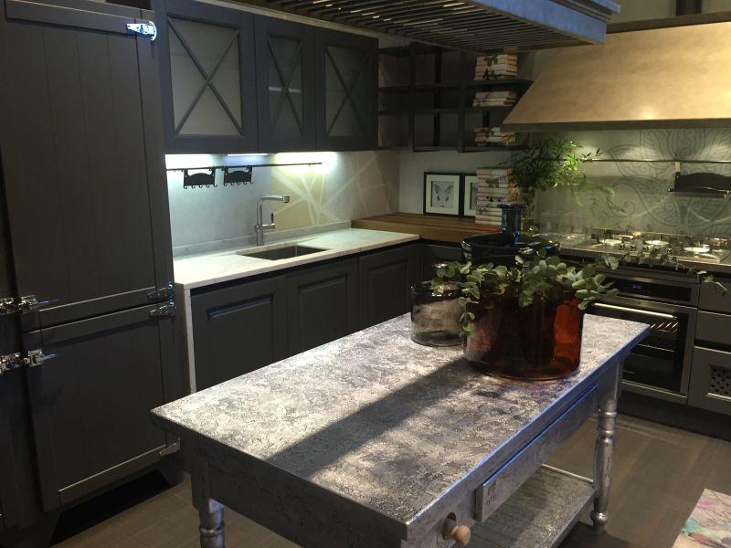 Metalic paint kitchen island