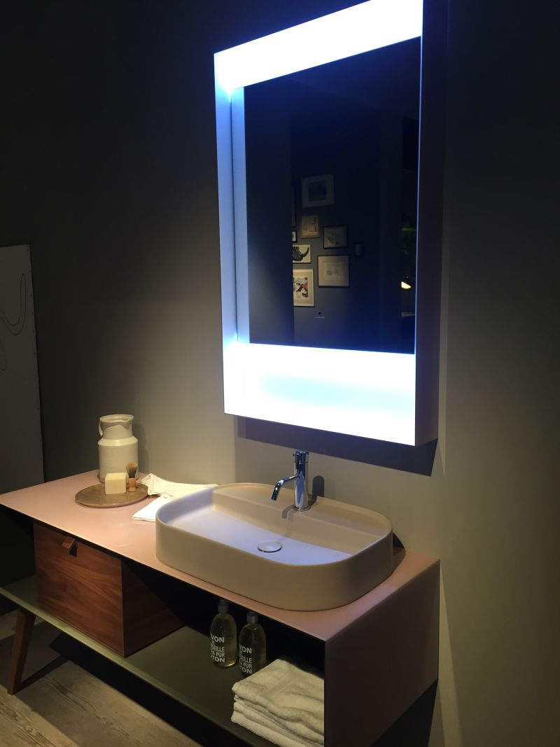 Mid century inspired bathroom vanity