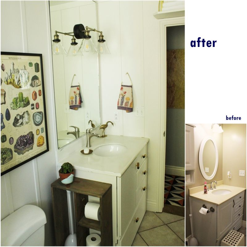 Mirror before and after reno
