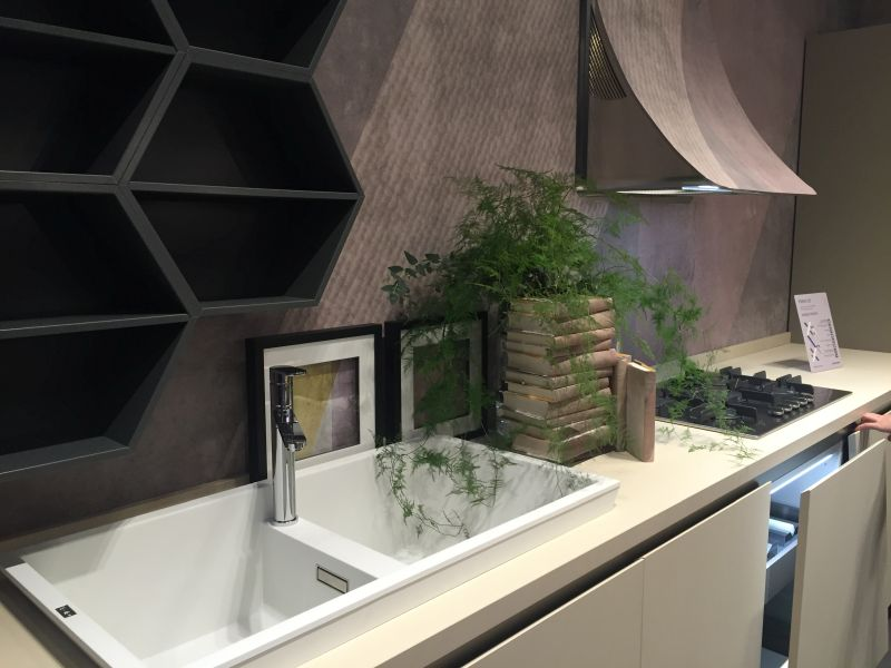 Modern kitchen design with a hood