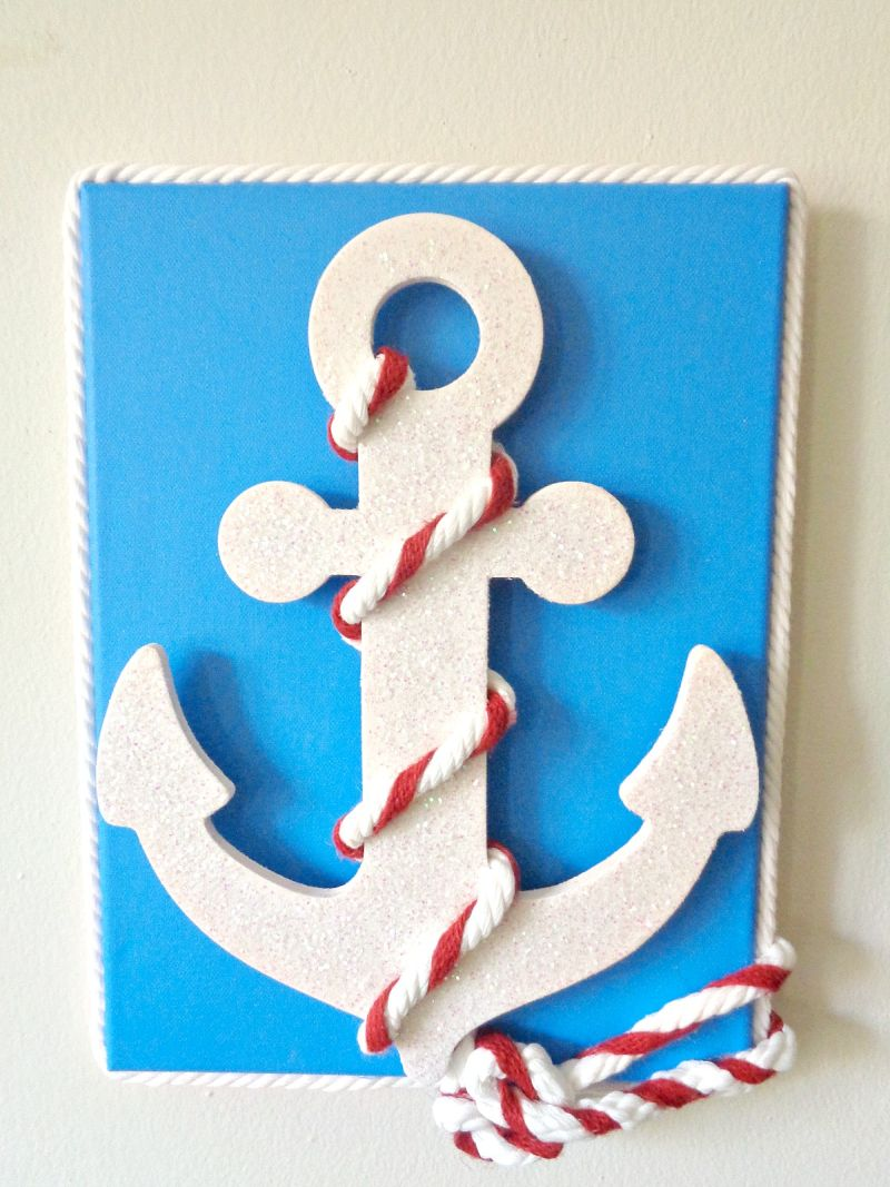 Nautical Anchor Wall Art Display