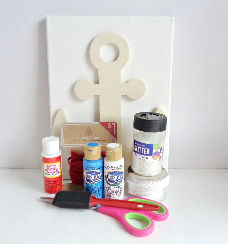 Nautical Anchor Wall Art Supplies