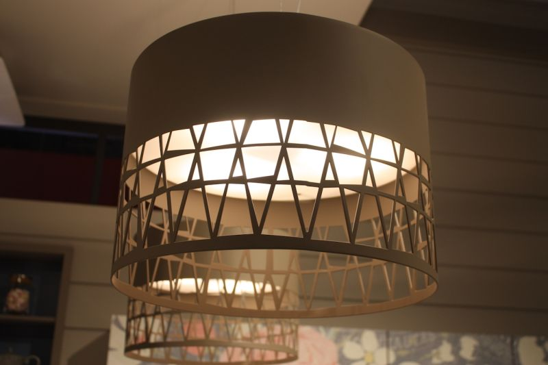 Heres a closer look at these neutral colored kitchen island lights