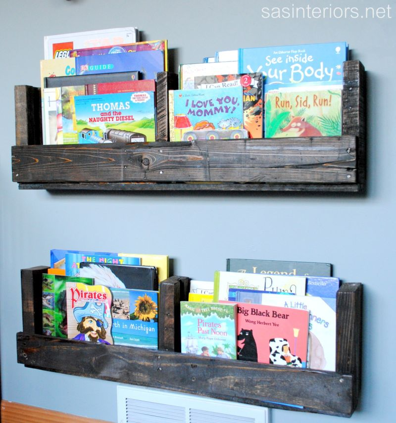 Pallet-Shelves for books