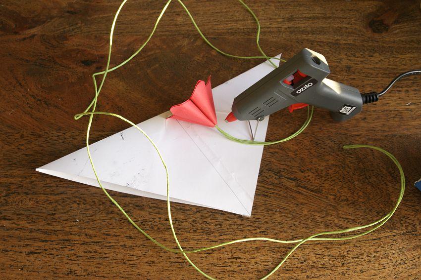 Paper Floral Mobile Tutorial Glue