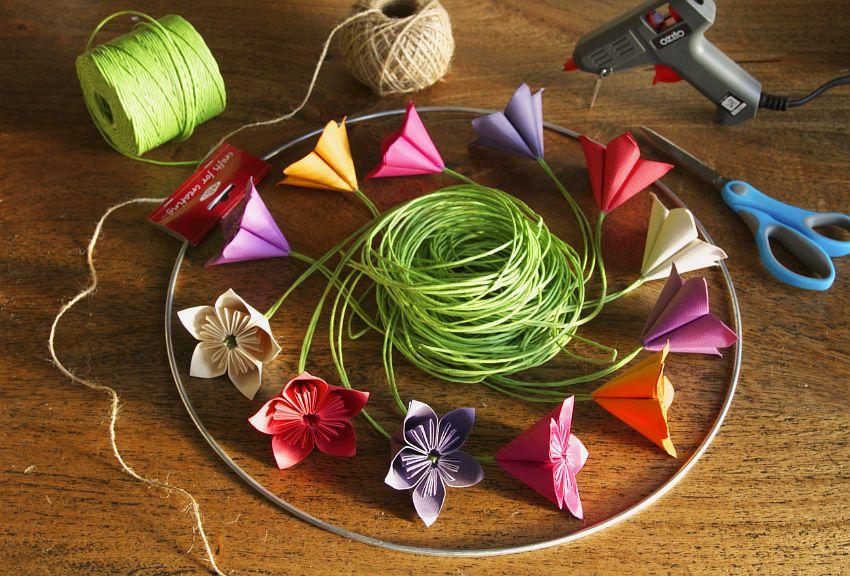 Paper Floral Mobile Tutorial Materials