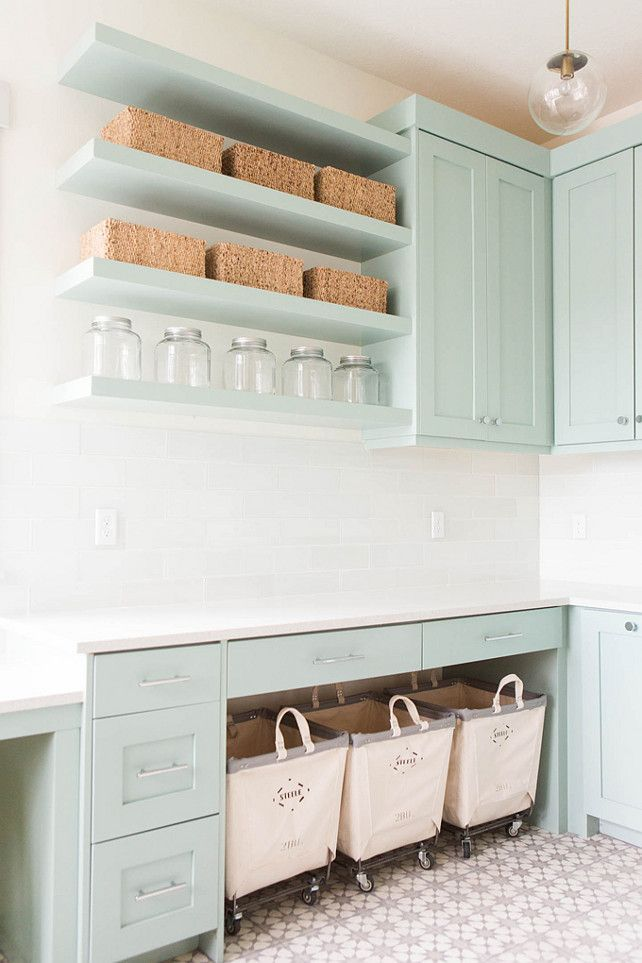 Pastel laundry room design