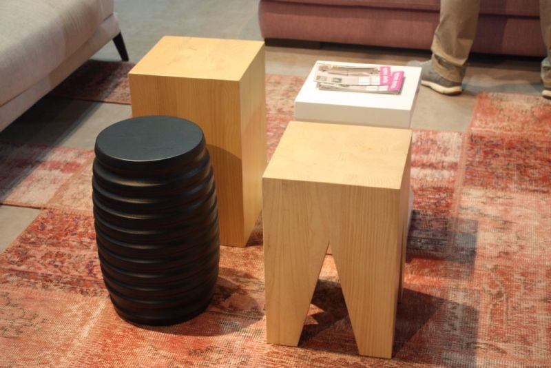 Pedro Ortiz's side tables can also do double duty as stools. If you live in a small space, these can be very useful when you have friends or family drop by and you need a few extra seats.
