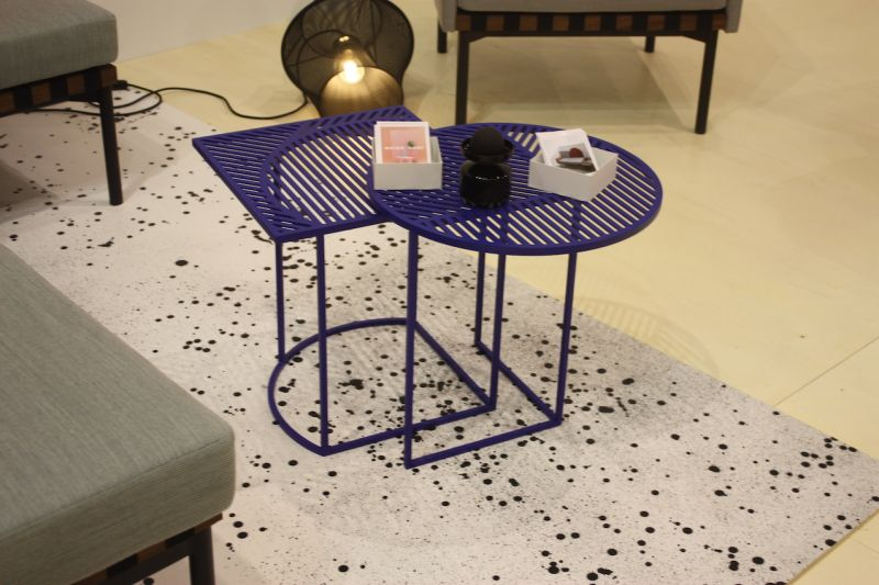 Small, graphic and colorful, Petite Friture's Iso-B epoxy-coated metal nesting tables add a bit of fun as well as function.