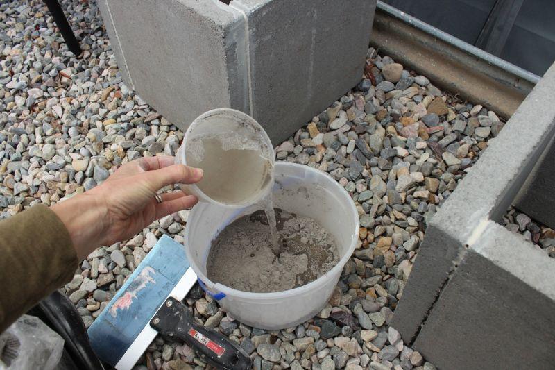 Prepare the concrete mix