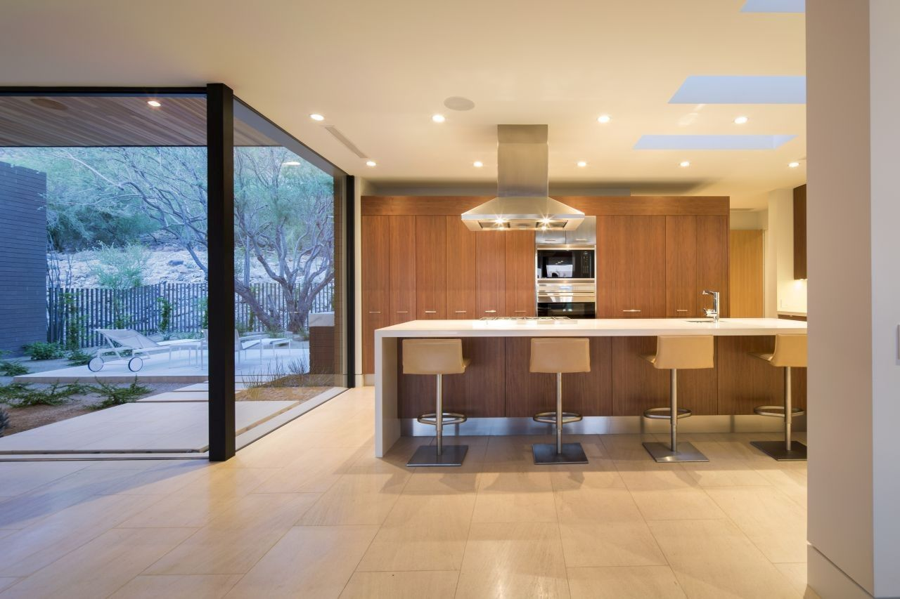 Rammed Earth Modern project kitchen