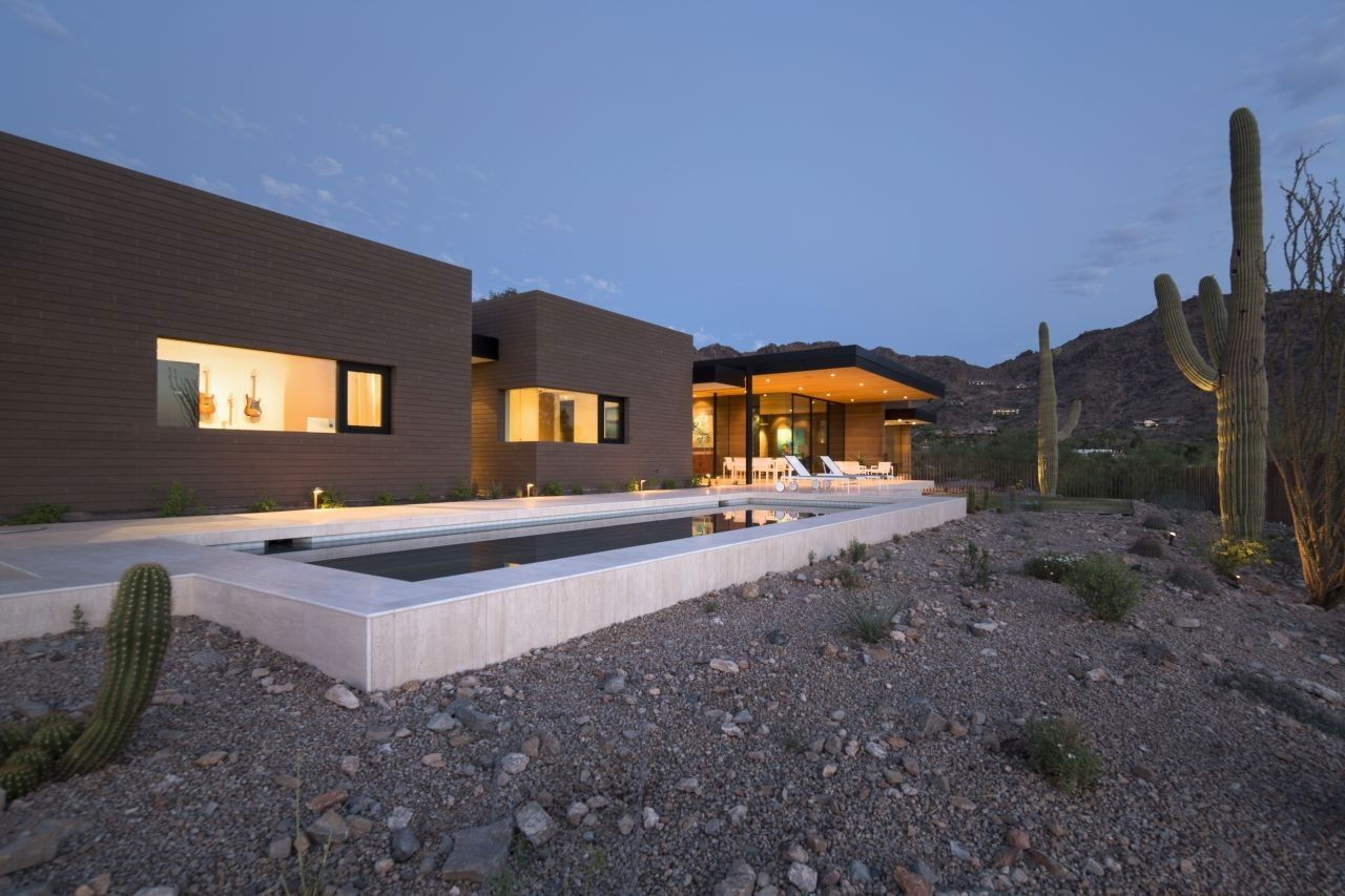 Rammed earth modern project