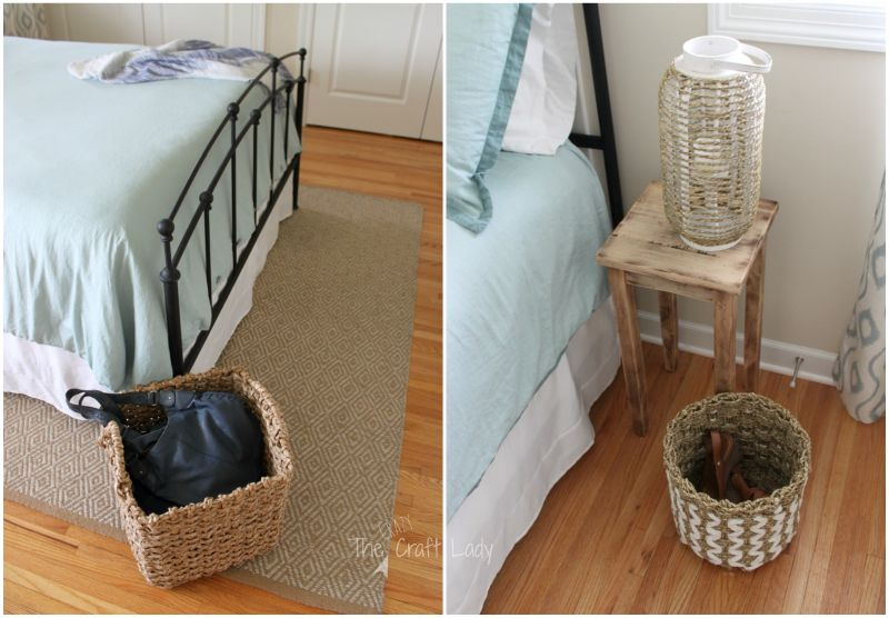 Rattan and rope baskets