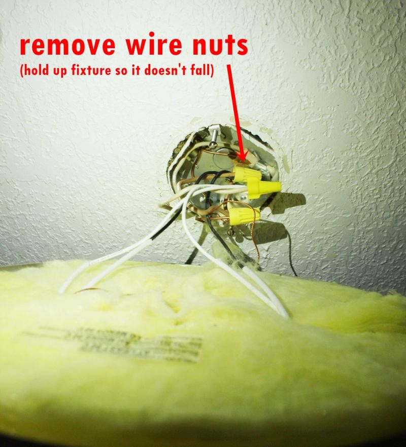 Remove the wire nuts