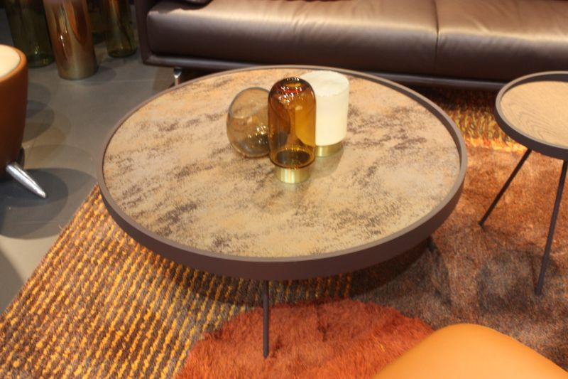 Sometimes, a stylish round coffee table just fits the bill, and this one from Leolux would be out choice. Neutral tones and an interesting top with sleek stick legs make it versatile yet never boring.