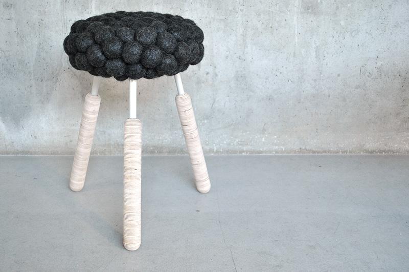 Sheep felt stool