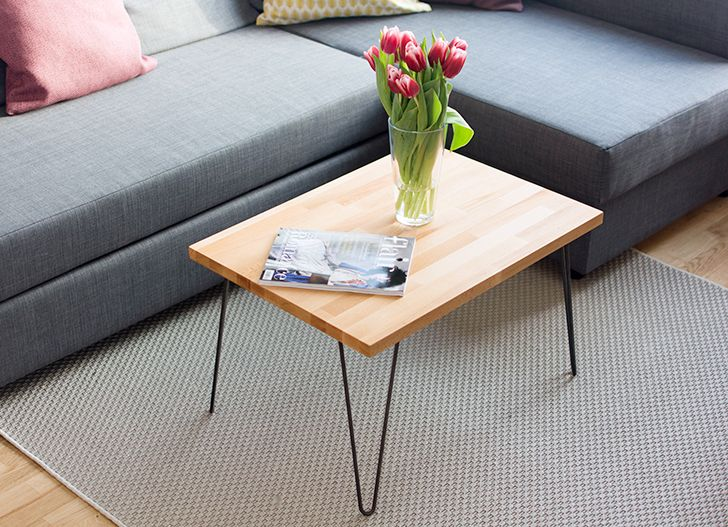 Simple and modern hairpin table