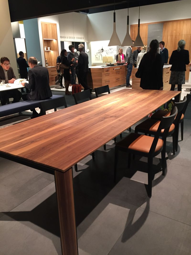 ... Sleek Wood Finish For Dining Table