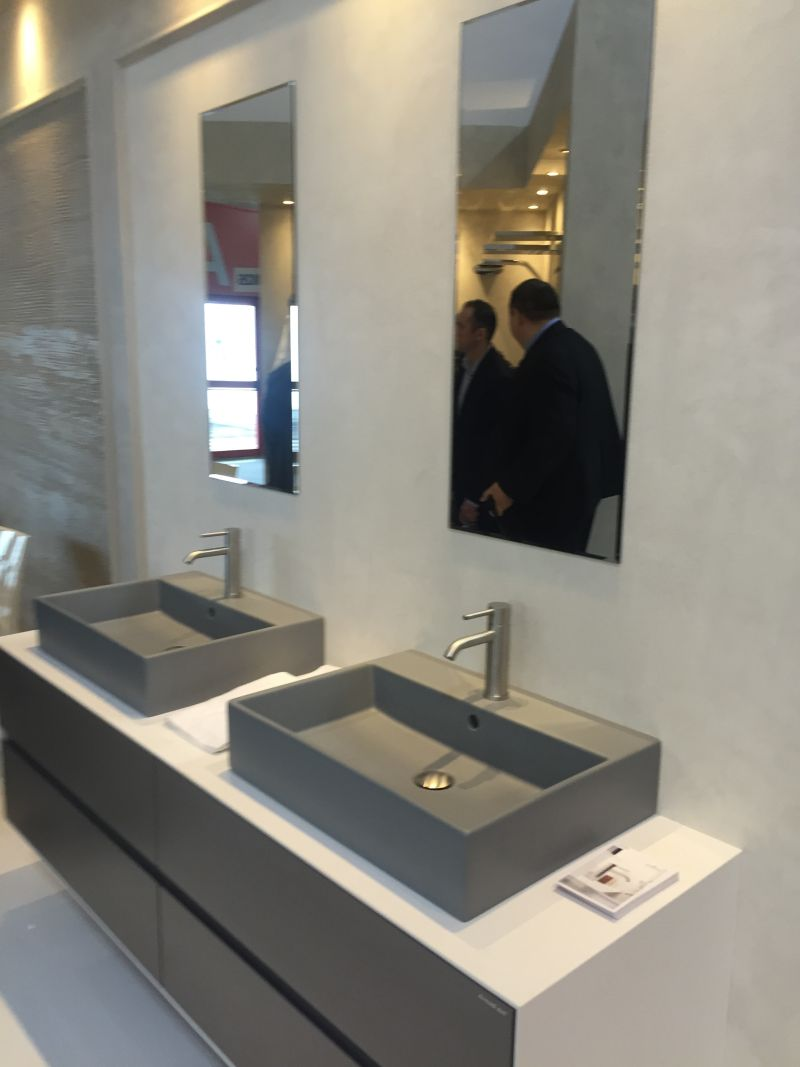 Small grey washbasin