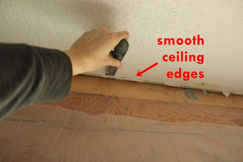 Smooth ceiling surface
