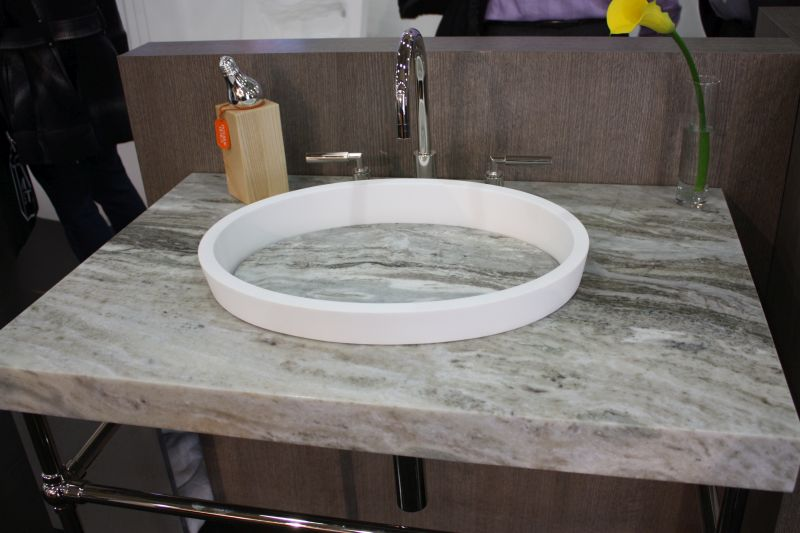 Solid marble countertop bathroom sink