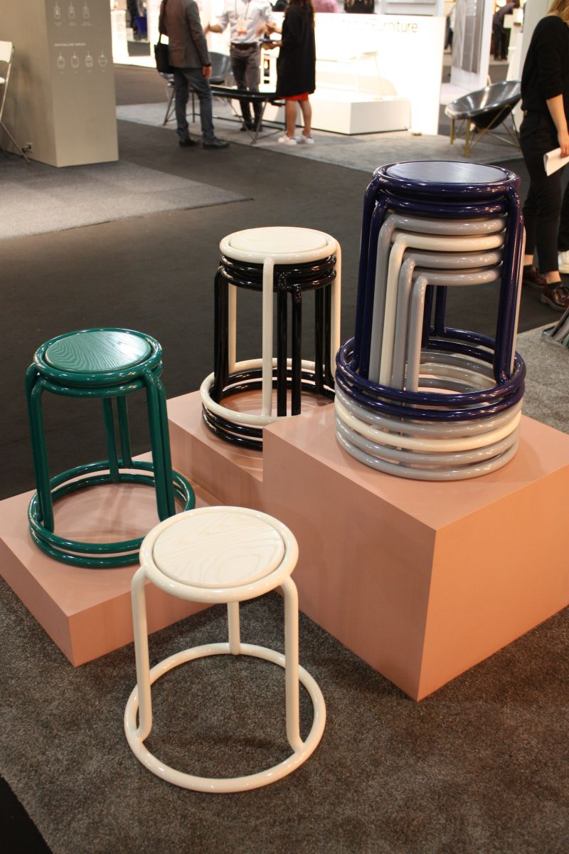 Stacking ombre chairs