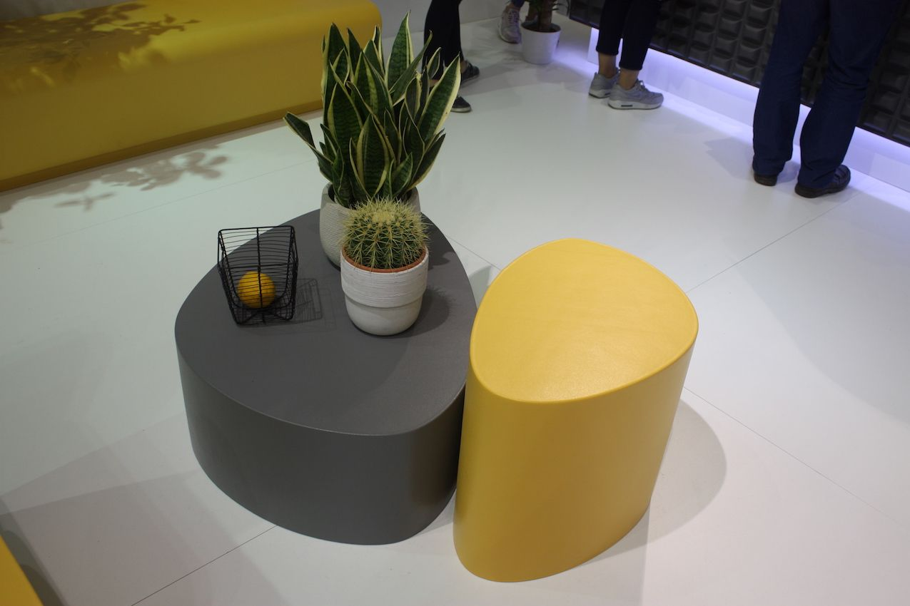 """These """"Stone"""" tables would be a good addition to any outdoor furniture set as an occasional table. If you have extra guests, they can be pulled into service as extra stools."""