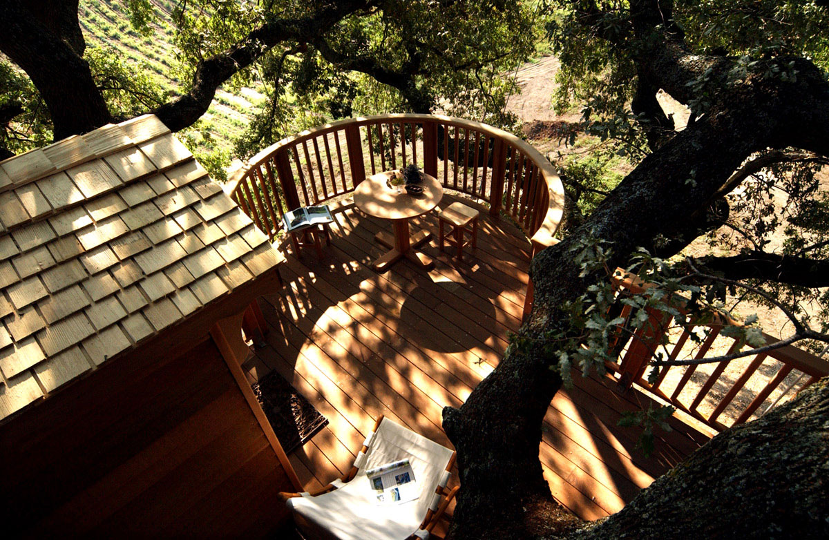 Suite Blue treehouse al fresco dining