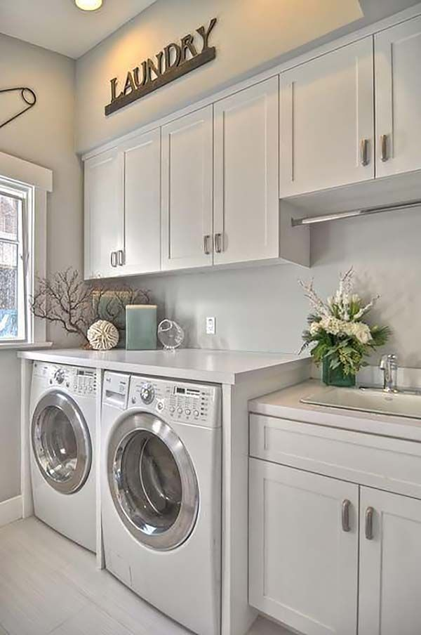 Sweet laundry room design