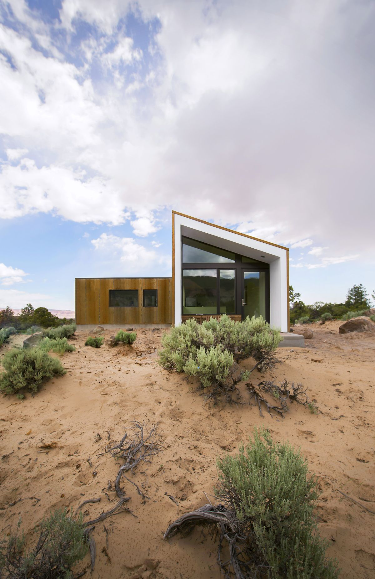 The Capitol Reef Desert Dwelling view