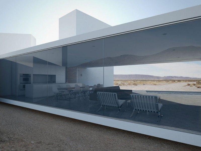 The Four Eyes House glass windows