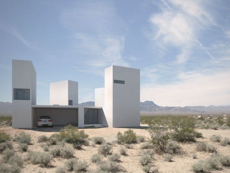 The Four Eyes House in desert