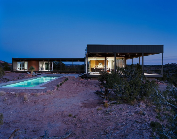 The Hidden Valley House by night