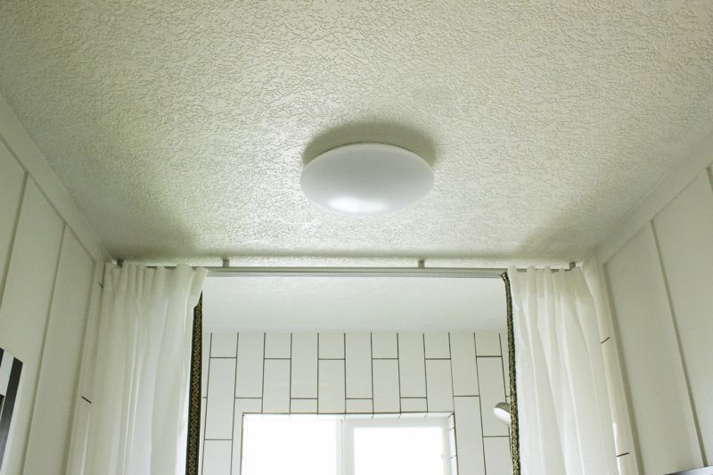 This flush-mount LED light fits the bill perfectly