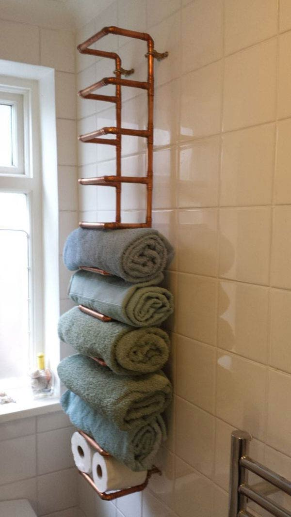 Towel storage from copper