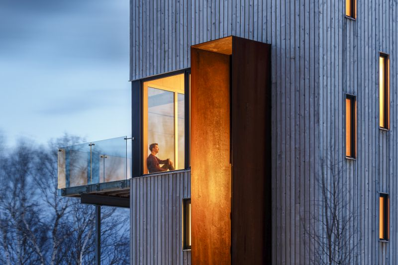 Tower cabin in Canada viewing platform