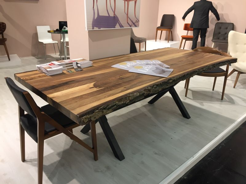 Very Beautiful And Practical Narrow Dining Table ... Tree finish dining table